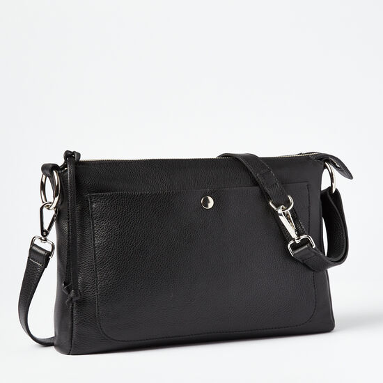 Roots-Leather Bestsellers-Sierra Bag Prince-Black-A