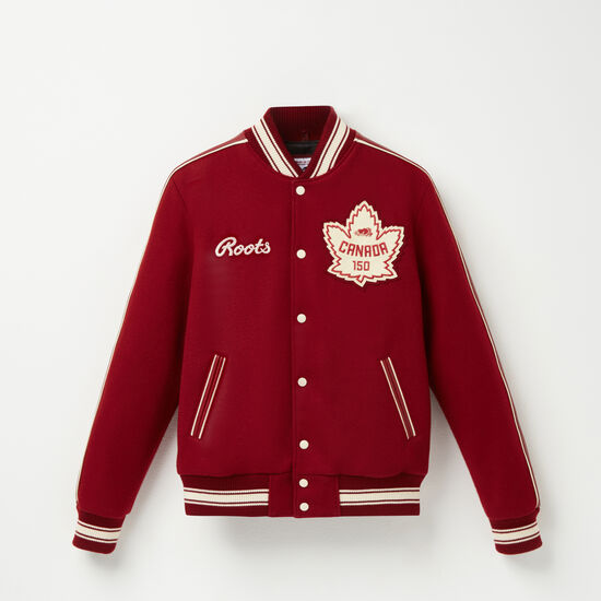 Roots-Leather Leather Jackets-Roots Heritage Award Jacket-Red-A