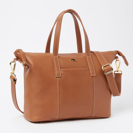Roots-Leather Totes-Zoe Bag Bridle-Tan-A