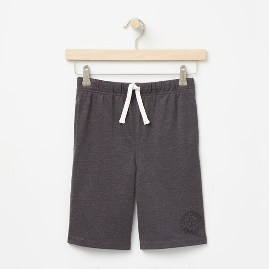 Roots-Kids Bottoms-Boys Bridgewater Shorts-Charcoal Mix-A