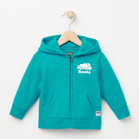 Roots-Kids Baby Girl-Baby Original Full Zip Hoody-Bluebird-A