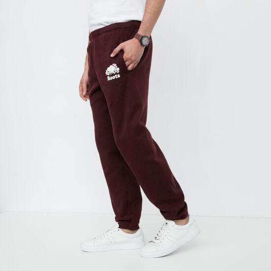 Roots-Men Original Sweatpants-Original Sweatpant-Crimson-A