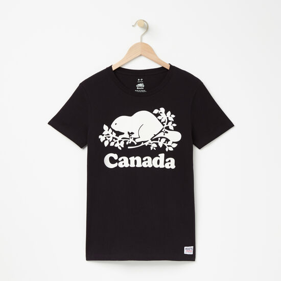 Roots-Women Canada Collection By Roots™-Womens Cooper Canada  T-shirt-Black-A