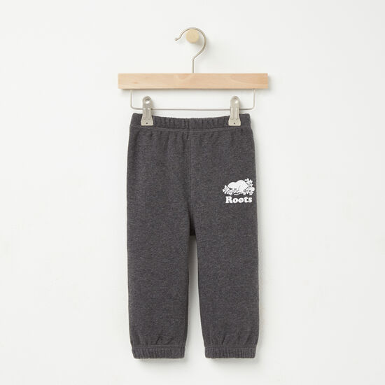 Roots-Kids Bottoms-Baby Original Sweatpant-Charcoal Mix-A