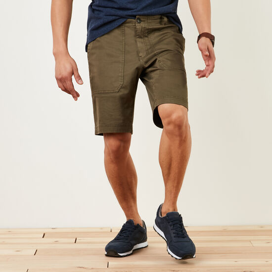 Roots-Men Shorts-New Hiker's Shorts-Ivy Green-A