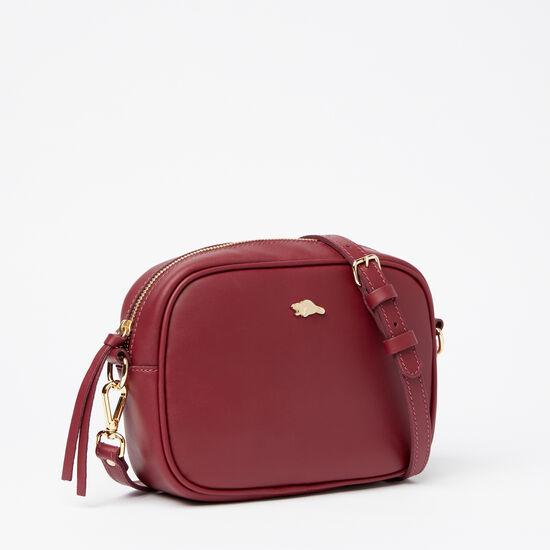 Roots-Women Mini Leather Handbags-Lorna's Bag Bridle-Cranberry-A