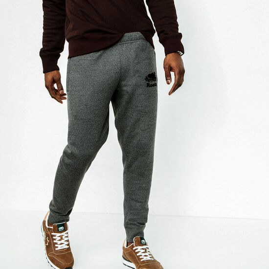 Roots-Men Slim Sweatpants-Park Slim Sweatpant-Steel Grey Pepper-A