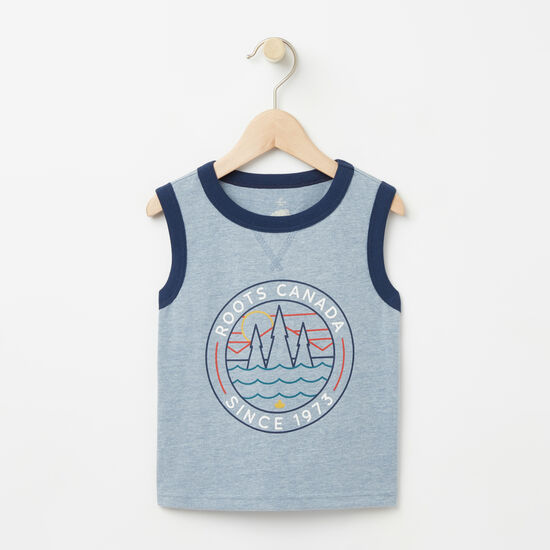 Roots-Kids Toddler Mix & Match 2 For $28-Toddler Hunter Sleeveless Top-Bluestone-A