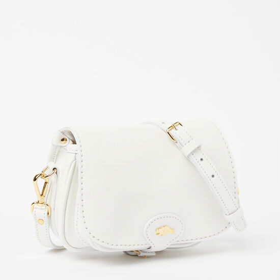 Roots-Leather Mini Leather Handbags-Kays Bag Bridle-White-A