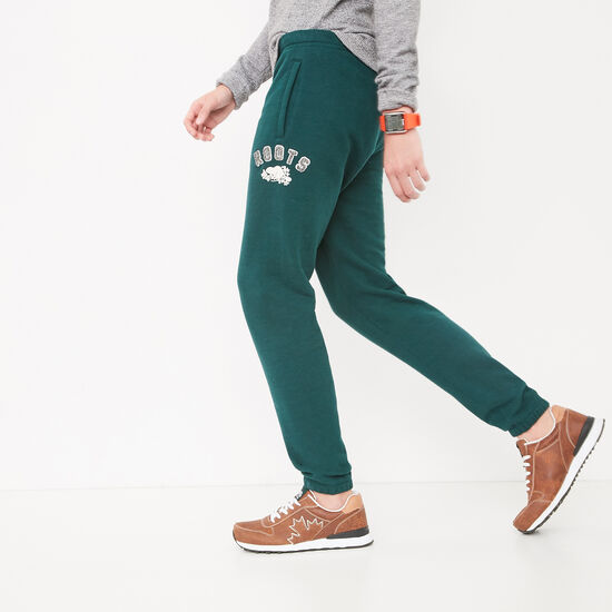 Roots-Women Slim Sweatpants-Chenille Slim Sweatpant-Pine-A