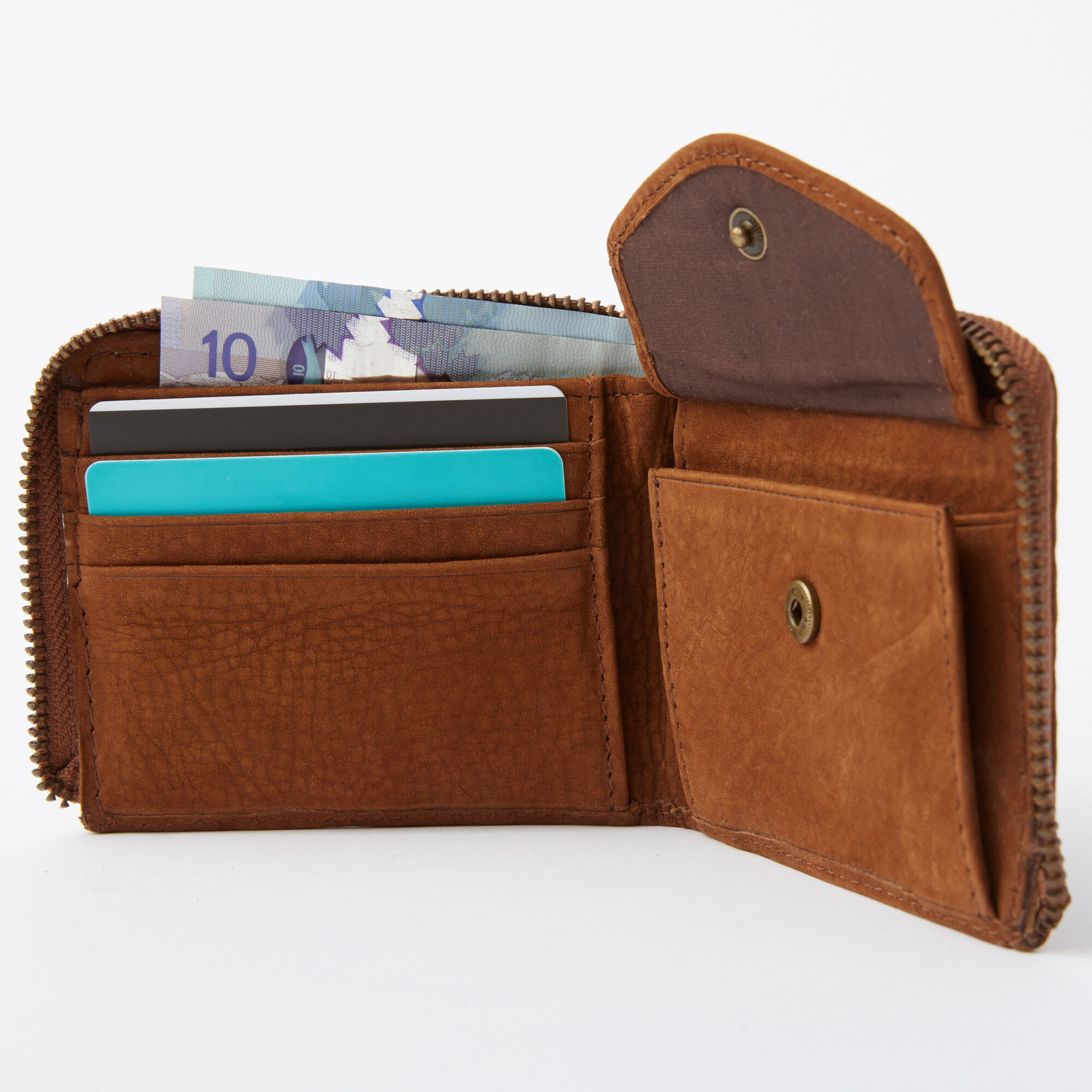 Mens Half Zip Wallet Waterbuck