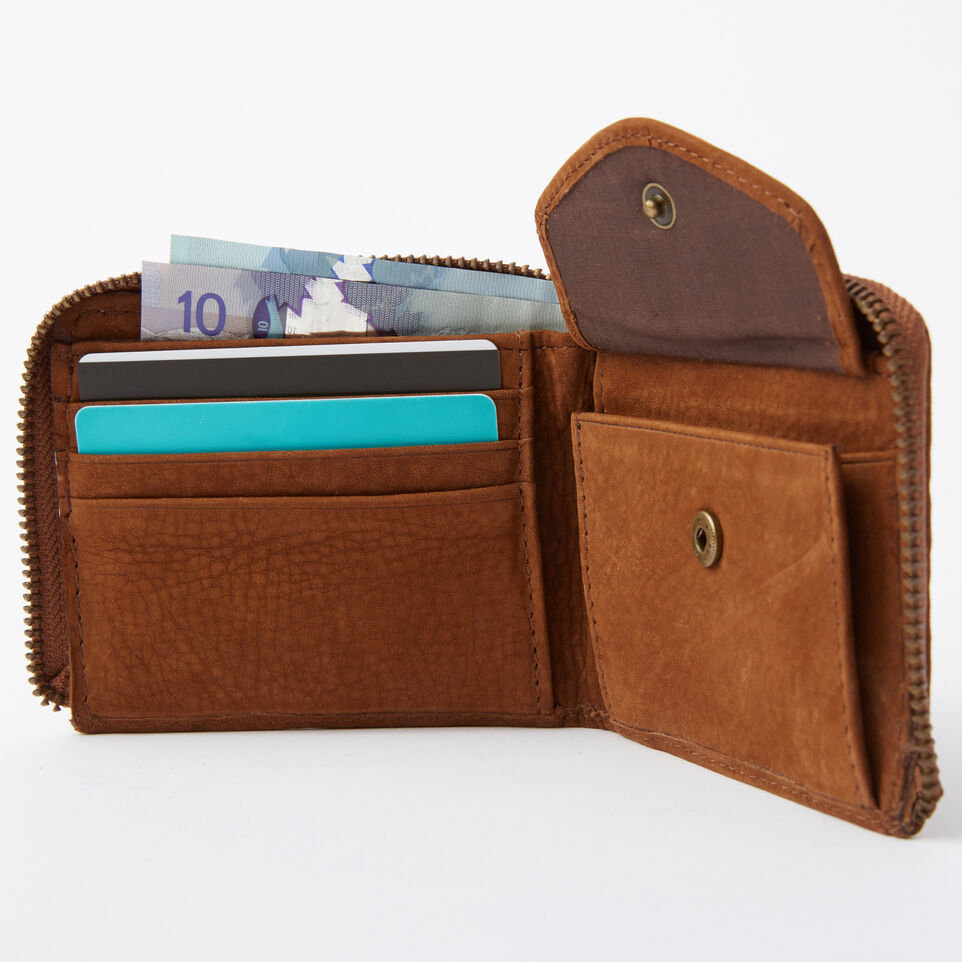 Roots-undefined-Mens Half Zip Wallet Waterbuck-undefined-B