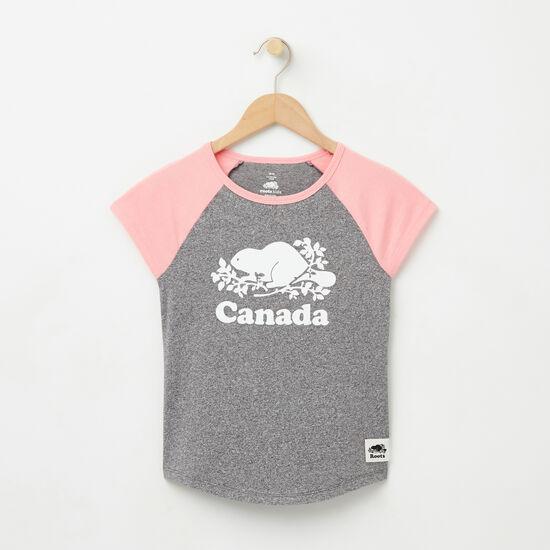 Roots-Kids New Arrivals-Girls Cooper Canada Raglan Top-Salt & Pepper-A