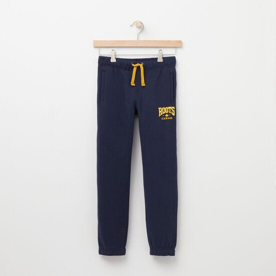 Roots-Kids Bottoms-Boys Matthew Straight Leg Bottom-Cascade Blue-A