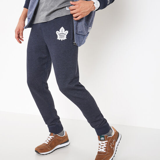 Roots-Men Toronto Maple Leafs-TML Draft Pick Slim Sweatpant-Navy Blazer Pepper-A