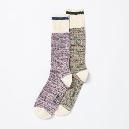 Roots-Women Socks-Womens Park Sock 2 Pack-Multi-A