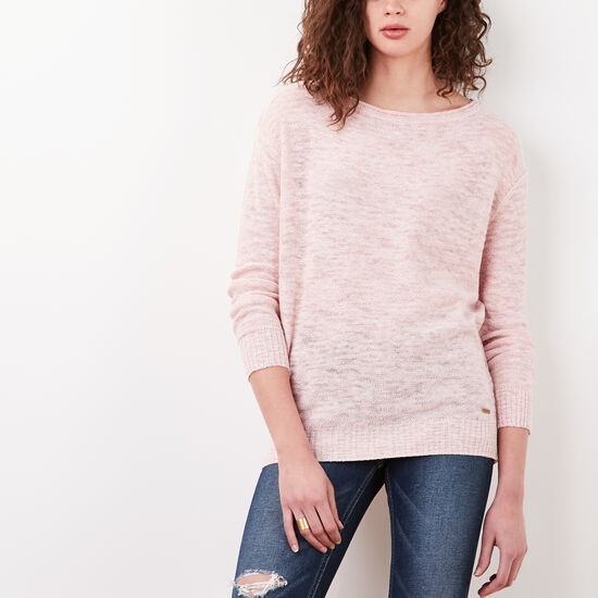 Roots-Women Sweaters & Cardigans-Annika Sweater-Silver Pink Mix-A