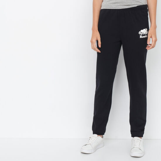 Roots-Women Original Sweatpants-Boyfriend Sweatpant-Black-A