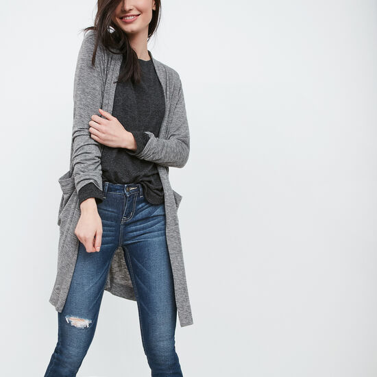 Roots-Women Tops-Hillside Cardigan-Medium Grey Mix-A