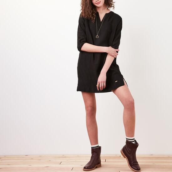 Roots-Women Dresses-Telkwa Dress-Black-A