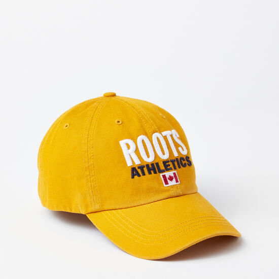 Roots-Men Hats-Franklin Roots Baseball Cap-Ancient Gold-A