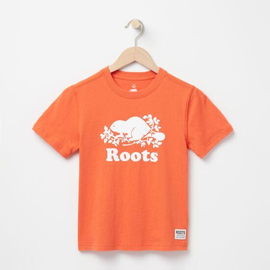 Roots-Enfants T-shirts-Garçons T-shirt Cooper Beaver-Orange Érable-A