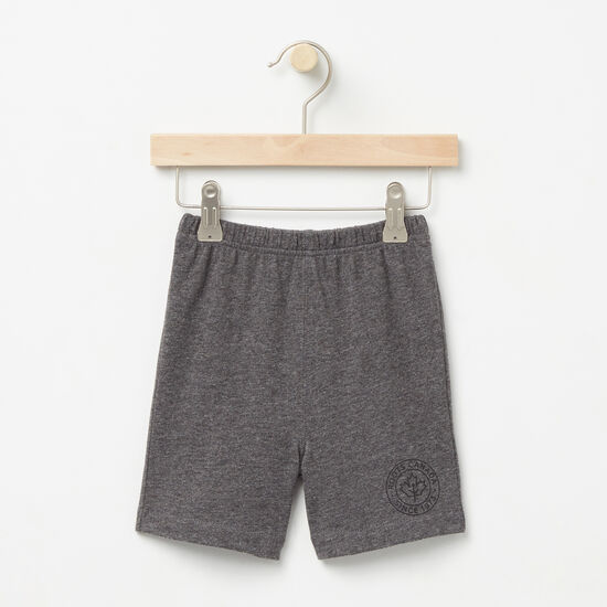Roots-Kids Bottoms-Baby Moncton Shorts-Charcoal Mix-A