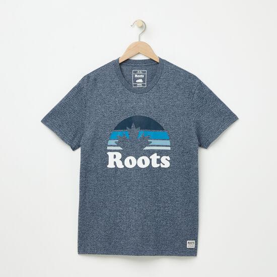 Roots-Men Graphic T-shirts-Sunvalley T-shirt-Cascade Blue Pepper-A
