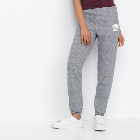 Roots-Women Original Sweatpants-Boyfriend Sweatpant-Salt & Pepper-A