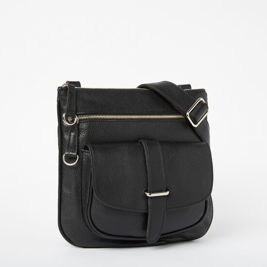 Roots-Women Shoulder Bags-Side Saddle Prince-Black-A