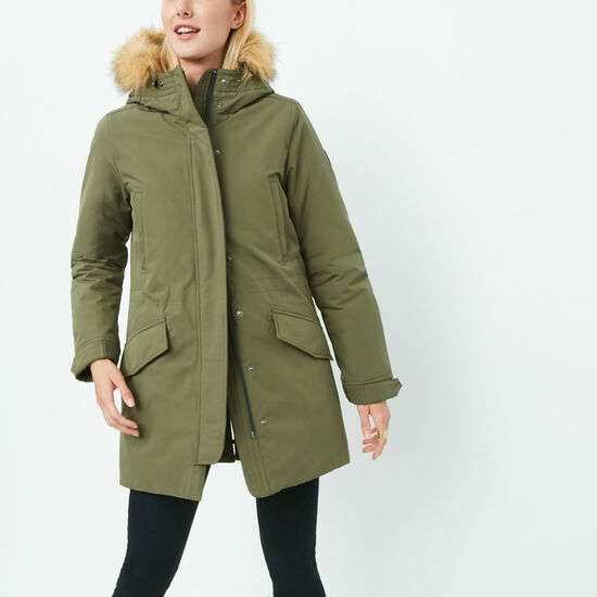 Roots-Sale Women's-Portage Parka-Fatigue-A