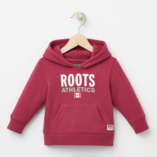 Roots-Kids Baby Girl-Baby Roots Re-issue Kanga Hoody-Beaujolais-A