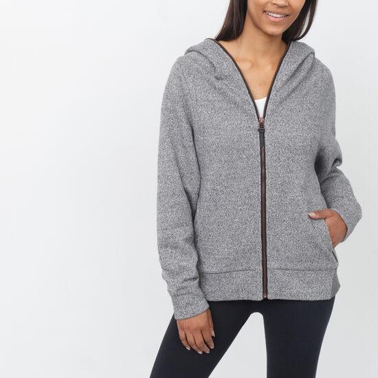 Roots-Women Outerwear-Ridgetown Zip Jacket-Salt & Pepper-A
