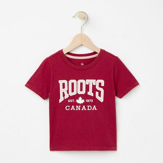 Roots-Kids T-shirts-Toddler Ella Maple T-shirt-Beaujolais-A