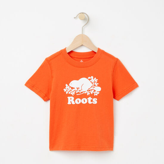 Roots-Kids T-shirts-Toddler Cooper Beaver T-shirt-Maple Orange-A