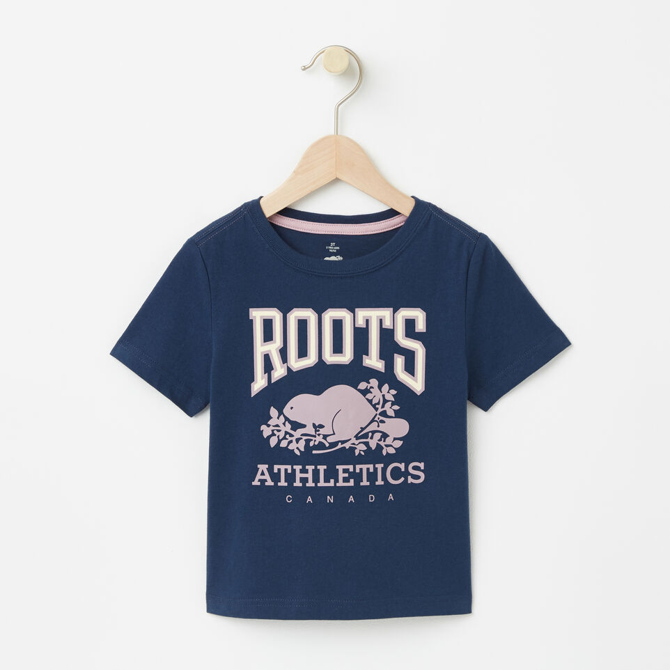 Roots-undefined-Tout-Petits T-shirt RBA Phosphorescent-undefined-A