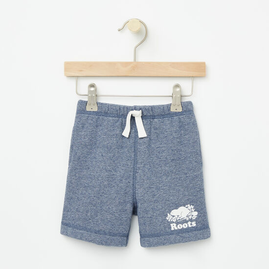 Roots-Kids Bottoms-Baby Original Athletic Shorts-Cascade Blue Pepper-A