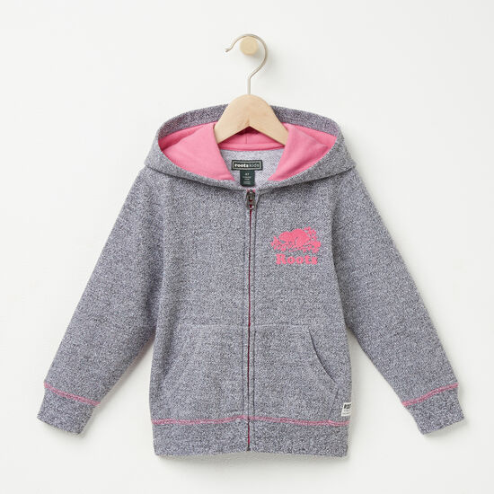 Roots-Kids Toddler Girls-Toddler Pepper Original Full Zip Hoody-Salt & Pepper-A