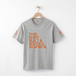 Roots - Homme Build A School Tee-gris