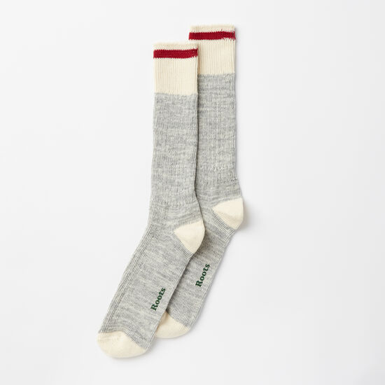 Roots-Men Socks-Mens Park Sock 2 Pack-Grey Mix-A
