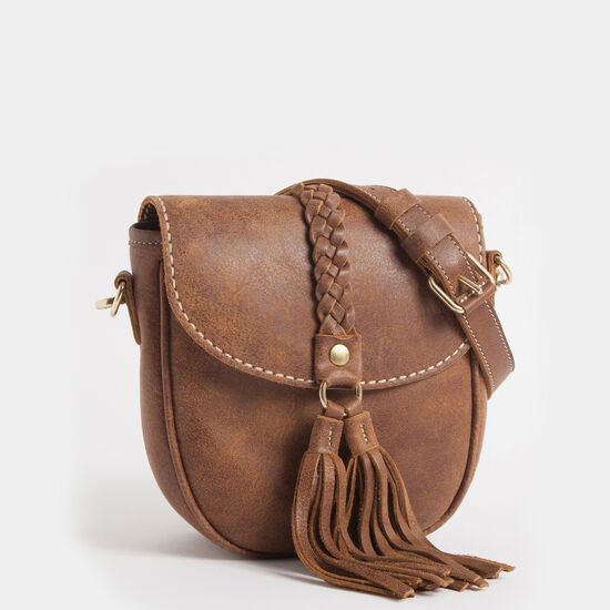 Roots-Women Shoulder Bags-Braided Saddle Tribe-Africa-A