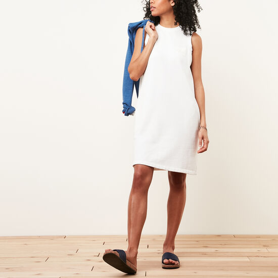 Roots-Femmes Robes-Robe Estivale Cooper-Blanc-A