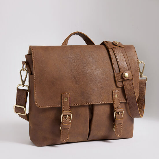 Roots-Leather Briefcases & Messengers-Directors Satchel Tribe-Africa-A