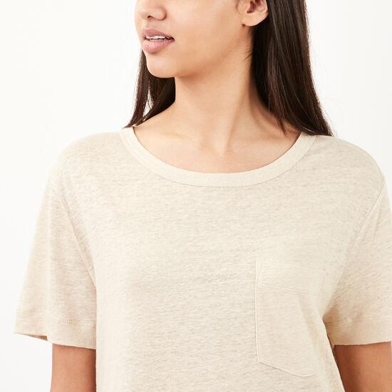Roots-Women Short Sleeve T-shirts-Harbour T-shirt-Sandy Beach Beige-A