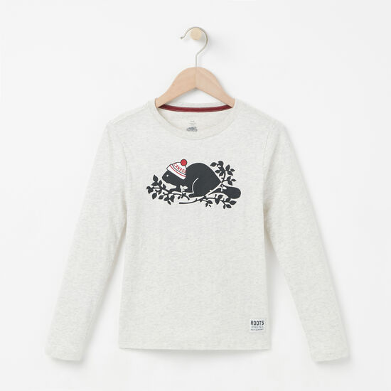 Roots - Girls Pom Pom Beaver T-shirt