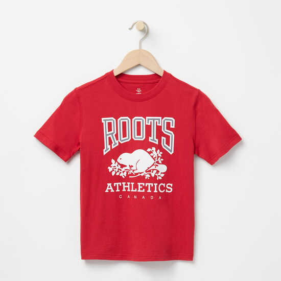 Roots-Kids T-shirts-Boys RBA T-shirt-Scooter Red-A