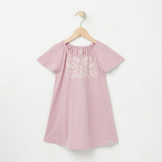 Roots-Kids Toddler Girls-Toddler Victoria Dress-Mauve Shadows-A