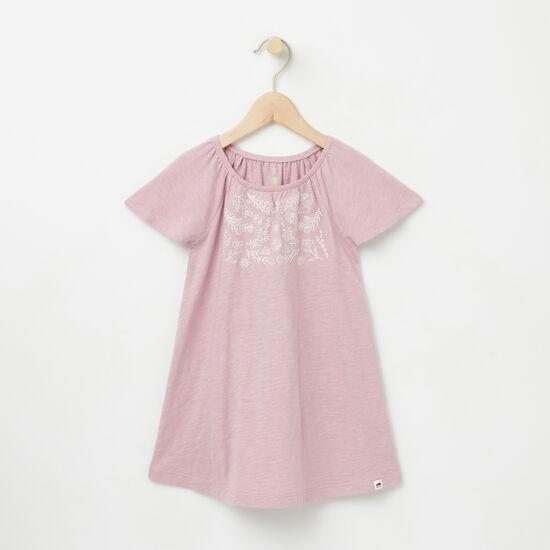 Roots-Kids Tops-Toddler Victoria Dress-Mauve Shadows-A