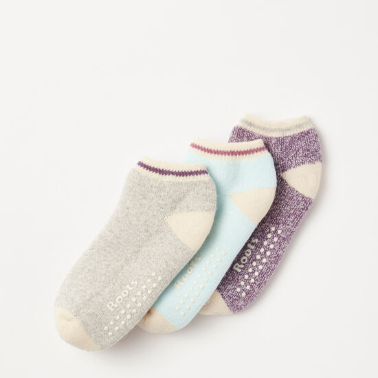 Roots-Kids Accessories-Toddler Cabin Ped Sock 3 Pack-Valley Purple-A