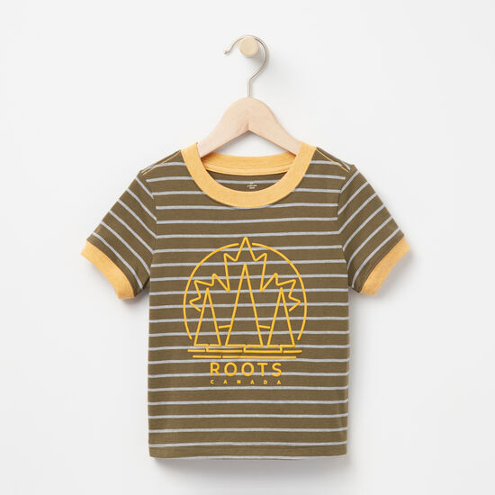 Roots-Kids T-shirts-Toddler Max Ringer Top-Ivy Green-A